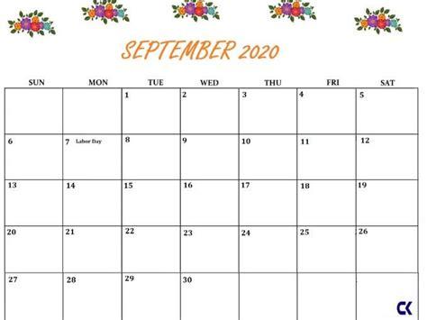 printable september  calendar teaching resources