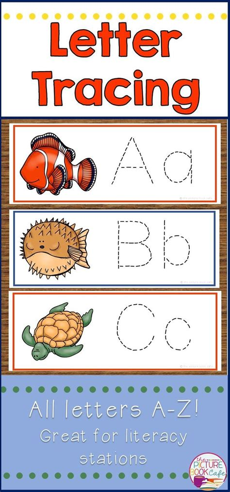 letter tracing activity   cute ocean theme perfect