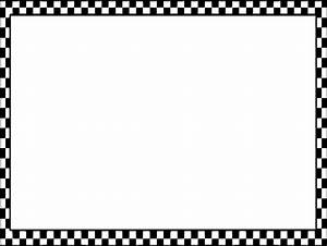 Black And White Checkered Border 2 Vector: AI And EPS ...