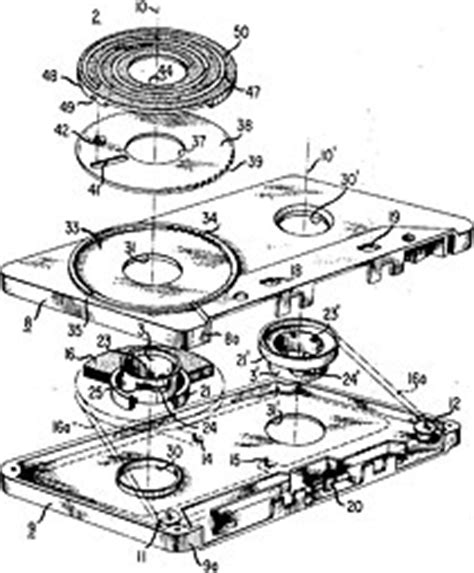 Diagram Of Audio Cassette by The Living Archive Of Underground T Yamamoto