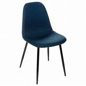 Chaise Scandinave Pied Metal : chaise design nokas bleu ~ Teatrodelosmanantiales.com Idées de Décoration