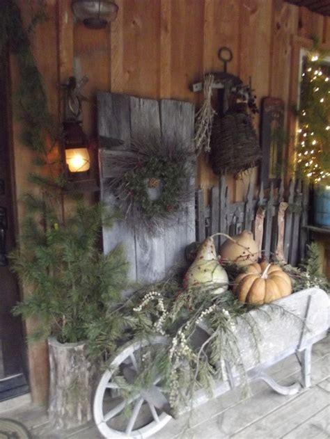 Primitive Porch Front Christmas