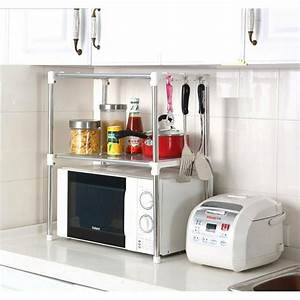 Chrome Microwave Oven Rack Stand Shelf Unit Side Organizer