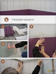 Vliestapete Tapezieren Untergrund : vliestapete tapezieren anleitung tipps ~ Watch28wear.com Haus und Dekorationen
