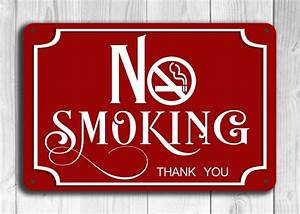 Red No Smoking Sign Classic Metal Signs