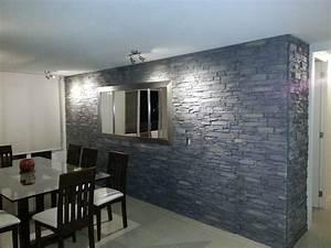 Steinwand Wohnzimmer Tv : panel piedra pizarra andes ~ Bigdaddyawards.com Haus und Dekorationen