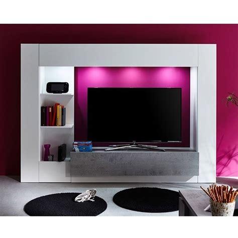parete porta tv jane mobile soggiorno moderno bianco  led