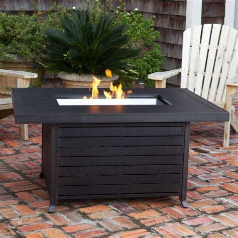 patio propane fire pit table patio rectangle table firepit modern google search