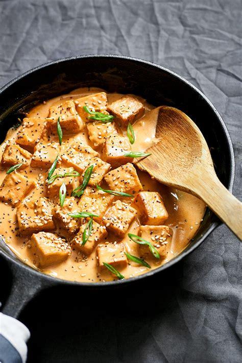 tofu stir fry recipe  tahini sauce eatwell