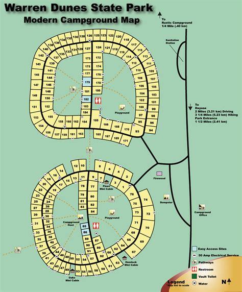 19213 Warren Water Park Coupons by Warren Dunes Cground Map Michigan Dune