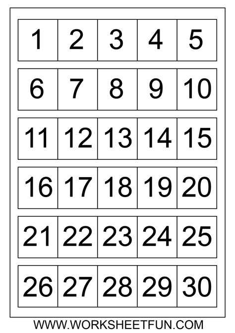 large printable numbers 1 100 to dot with numbers