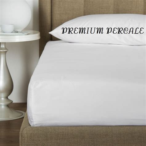 1 new white 54x80x12 percale pocket fitted hotel