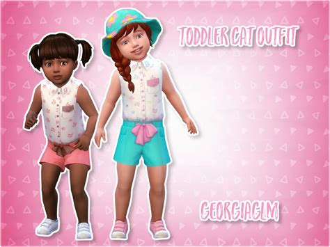 My Sims 4 Blog Clothing For Toddlers By Georgiaglm