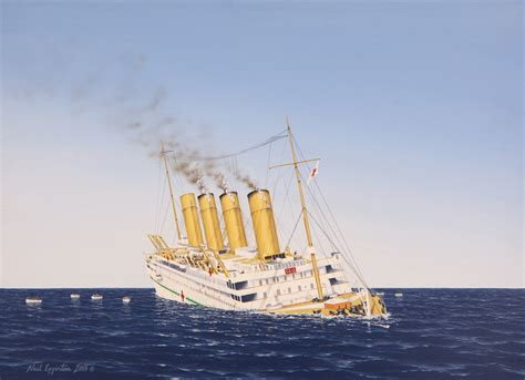 Sinking Of The Hmhs Britannic by 100 Sinking Of The Hmhs Britannic Four Stackers Of
