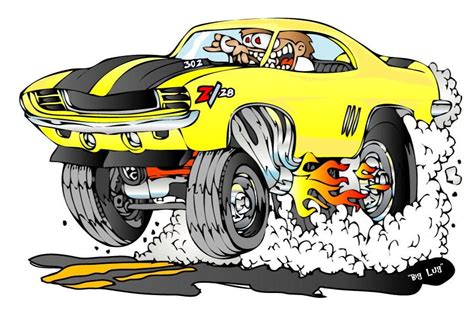 hot rod cartoons creekrat cartoons cool cars muscle cars