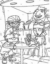 Rocket Power Coloring Pages Sheets Books Disappointed Rockets Adult Dari Disimpan sketch template