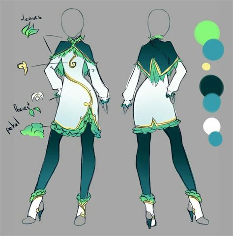 rika dono clothe design pinterest fairytail green