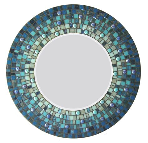 Spiegel Mosaik Wand by Crafted Mosaic Wall Mirror Blue By Opus
