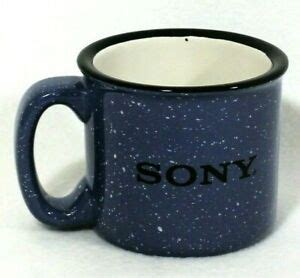 Try our promotional camp mugs for your next event, product launch or coffee shop. Sony Coffee Mug Blue Speckled Heavy Ceramic Tin Cup Design 12oz | eBay