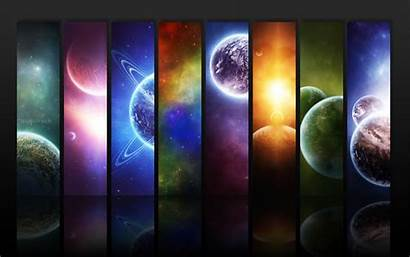 Planet Space Colorful Panels Desktop Wallpapers Background
