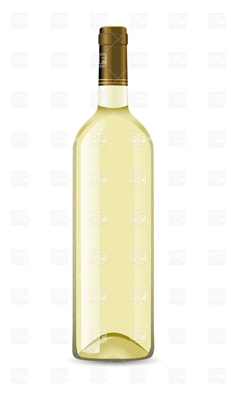 bottle  white wine vector image  rfclipart