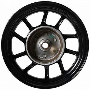 Ncy Hustler Front Wheel  Black  10 Spoke   Honda Dio  Sym