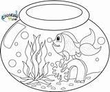 Coloring Goldfish Fish Bowl Drawing Fishbowl Sheet Animal Getdrawings Printable Sheets Ministerofbeans Coloring99 sketch template