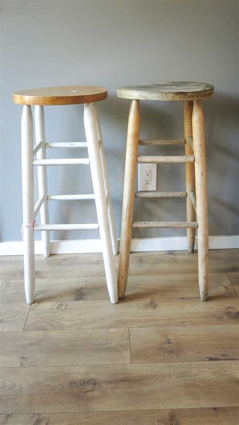 how to upcycle a bar stool into narrow bedside table