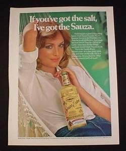 Magazine Ad for Sauza Tequila, 1976, Woman in Hammock ...