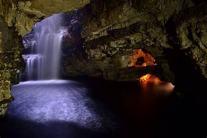 Cave Wallpapers Waterfall Nature Nu Caves Background