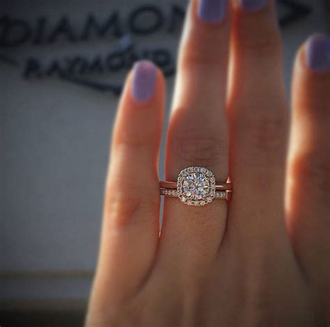 rose gold engagement rings for the holidays raymond jewelers