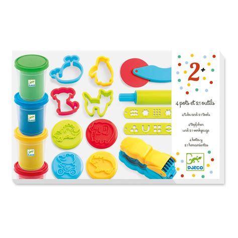 p 226 te 224 modeler 4 pots et 21 outils djeco jouet et loisir