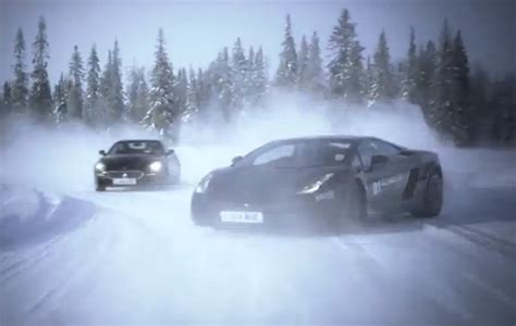 video ice driving  supercars  field