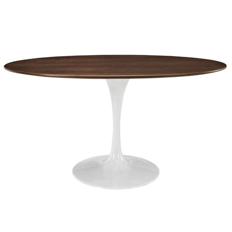 walnut veneer table top saarinen tulip style 60 quot oval walnut veneer or white top