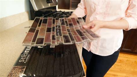 Vinyl Kitchen Flooring Ideas - how to install sticktile peel stick backsplashes in 5 minutes youtube