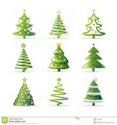 christmas trees collection royalty free stock photo image 21195845