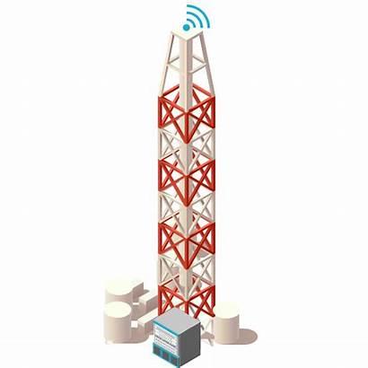 Tower Telecommunication Base Icon Puzzle Telekomunikasi Security