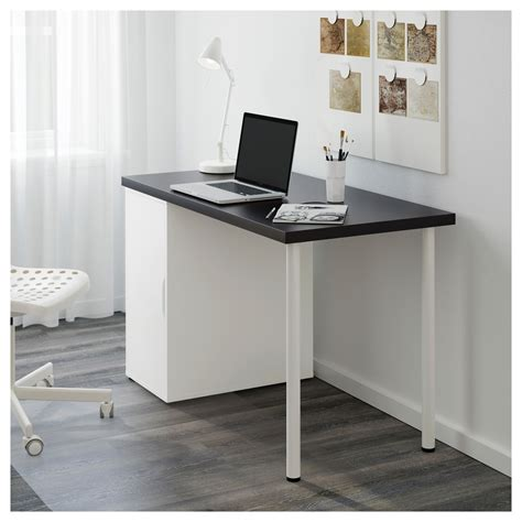Linnmon Alex Desk Reddit by Linnmon Alex Table Black Brown White 120x60 Cm Ikea