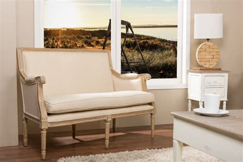 baxton studiochavanon wood light beige linen traditional