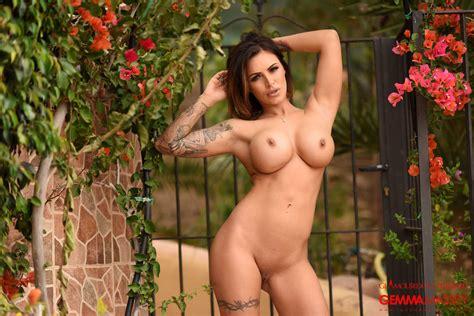 Hot Gemma Massey Strutting Her Fit Body Outdoors