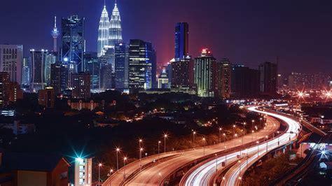 kuala lumpur  night malaysia hd wallpaper  desktop
