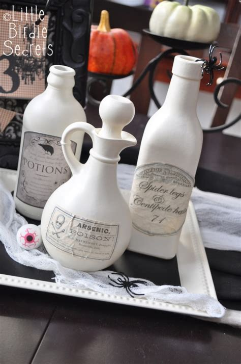 aged halloween potion bottle labels   takes