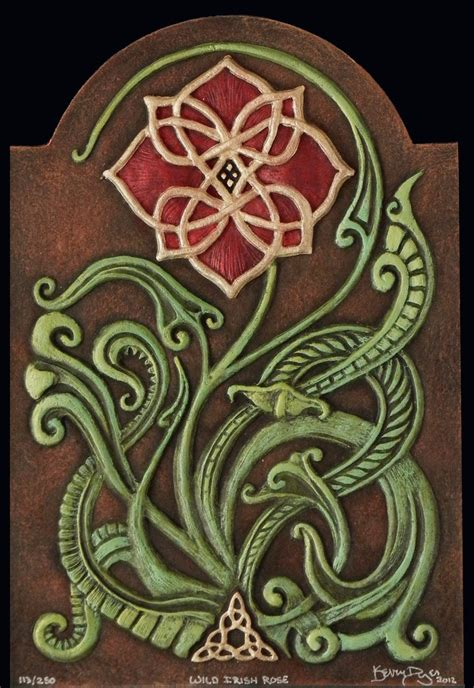 wild irish rose cast paper irish art celtic flower