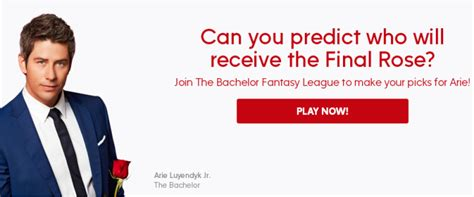 The Bachelor Fantasy League Sweepstakes – Win Trip Prize