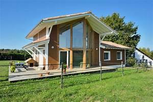 Ossature Bois Maison : maison bioclimatique ossature bois construction de ~ Melissatoandfro.com Idées de Décoration