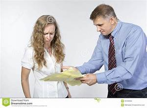 Boss Is Upset With His Employee Stock Photo - Image: 33199940