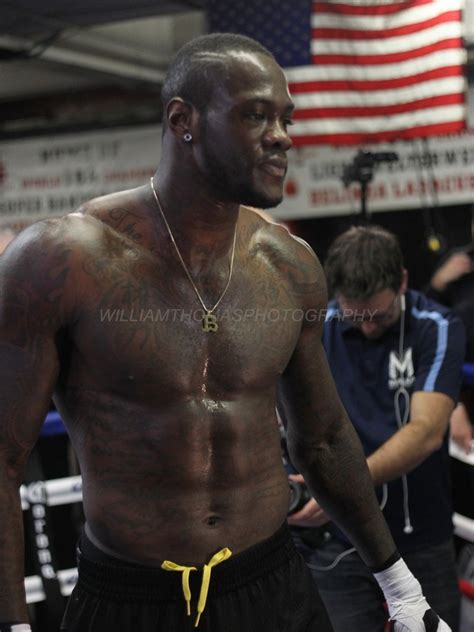 deontay wilder media workout pics fights saturday