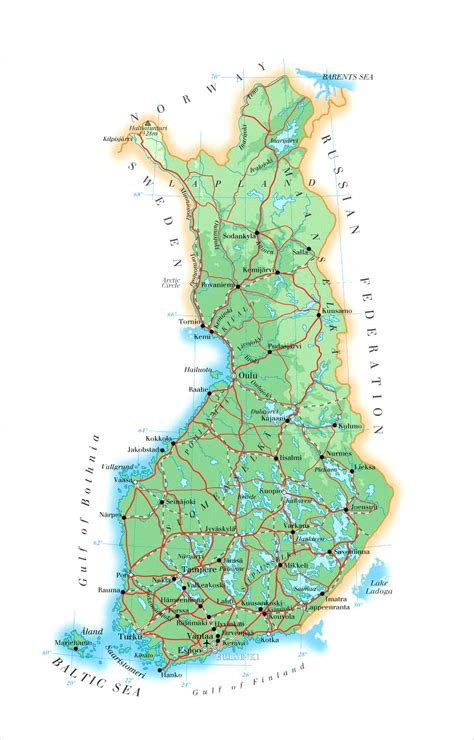 maps  finland map library maps   world