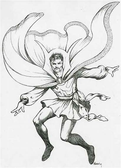 Strange Doctor Dr Marvel Pages Comic Avengers