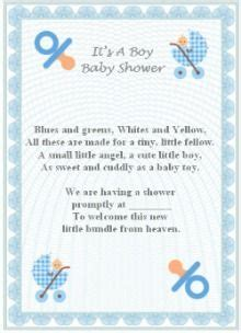 baby boy poem ideas baby shower invitation poems